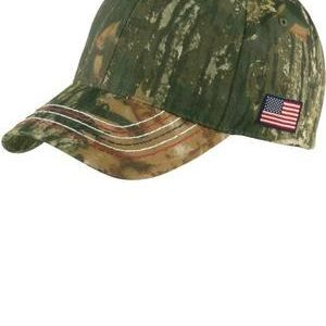 Americana Contrast Stitch Camouflage Cap Thumbnail