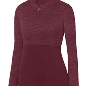 Ladies' Shadow Tonal Heather 1/4 Zip Pullover Thumbnail